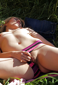Bobbie shows her trimmed muff